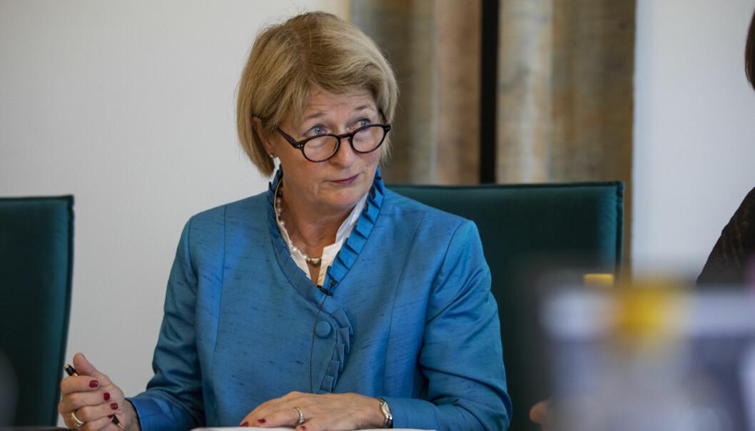 UiT-rektor Anne Husebekk skal nå møte statsråd Iselin Nybø. Foto: David Jensen/UiT