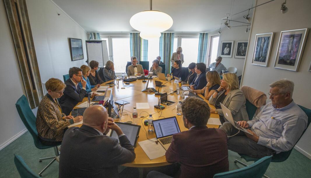 Styret ved UiT skal orienteres om kritikken mot påtroppende rektor Dag Rune Olsen på møtet fredag. Her fra et tidligere styremøte, den gang møtene var fysiske..