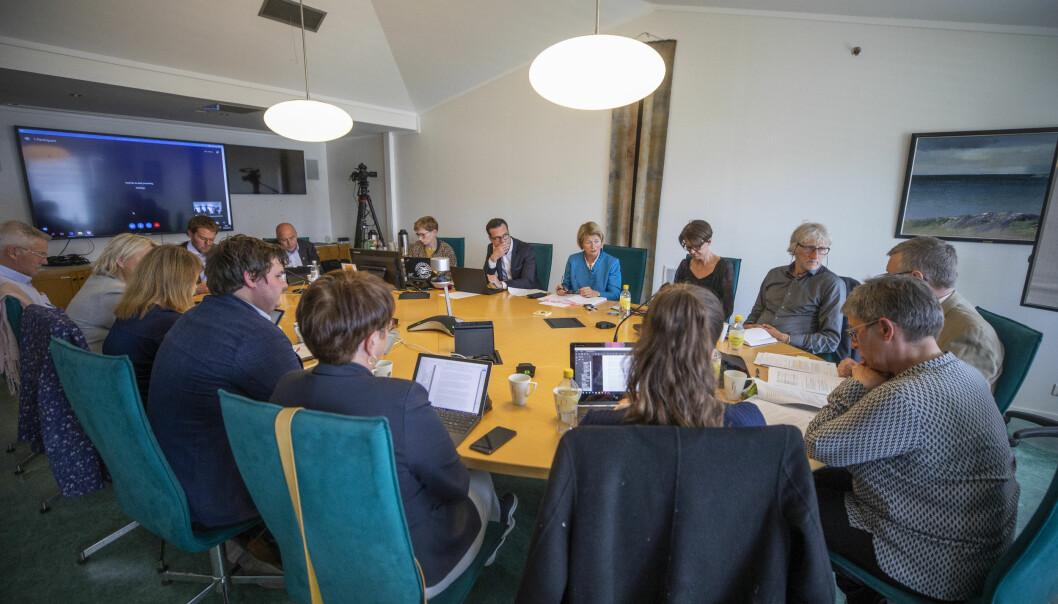 Styret ved UiT Norges arktiske universitet møtes på nytt 28. november. Her fra styremøtet i juni. Foto: David Jensen/UiT