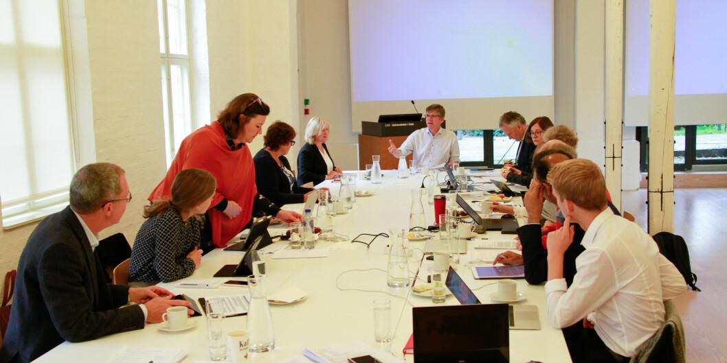 Styret ved Universitetet i Oslo hadde for første gang et digitalt styremøte, og kunne derfor ikke møte som vanlig. Bildet ble tatt høsten 2019.