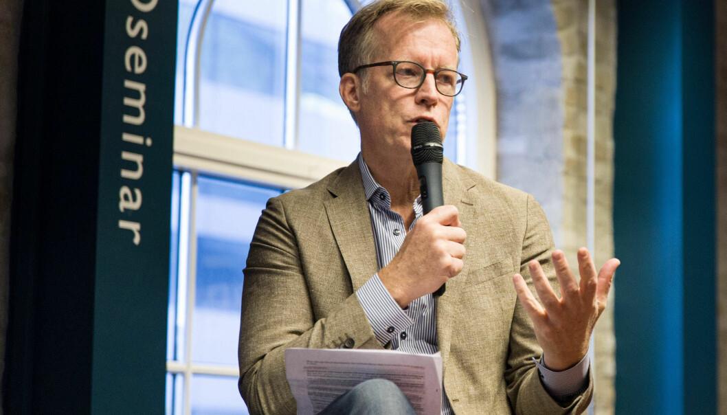 Rektor ved OsloMet, Curt Rice, har selv opplevd hvordan små kommentarer kan virke diskriminerende. Foto: Siri Øverland Eriksen