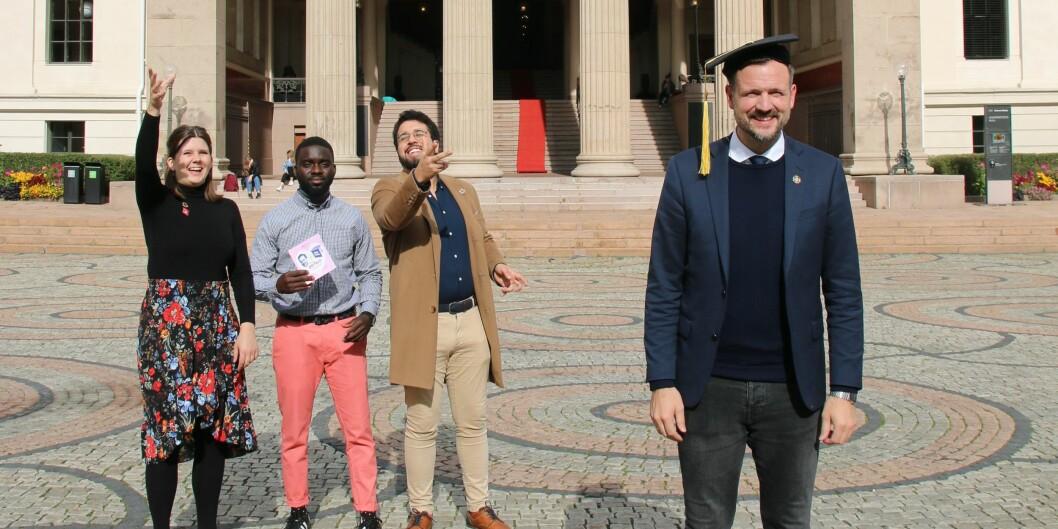 Studentorganisasjonene SAIH og NSO er fornøyde med å ha fått gjennomslag hos Utviklingsminister Dag Inge Ulstein. Foto: SAIH