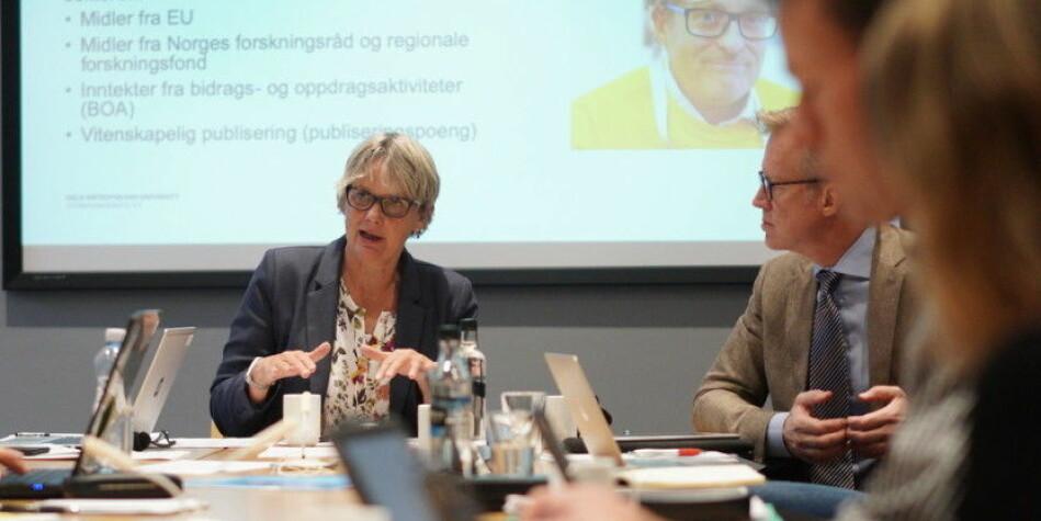 Styreleder Trine Syvertsen har mottatt varsel om kritikkverdige forhold ved OsloMet. Torsdag kommer saken opp i universitetsstyret. Foto: Ketil Blom Haugstulen