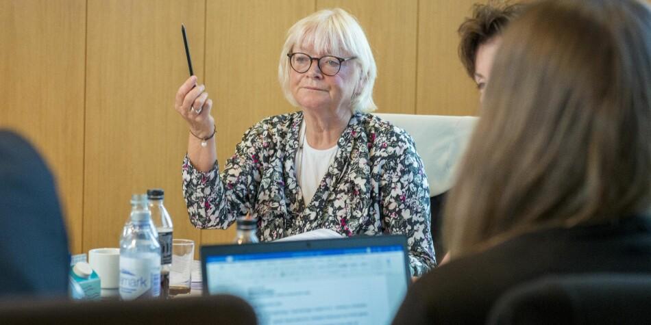 Nokuts sakkyndige påpekte mangler i kvalitetsarbeidet ved Høgskulen på Vestlandet. Her er rektor Berit Rokne under styremøtet 29. august 2019. Foto: Tor Farstad