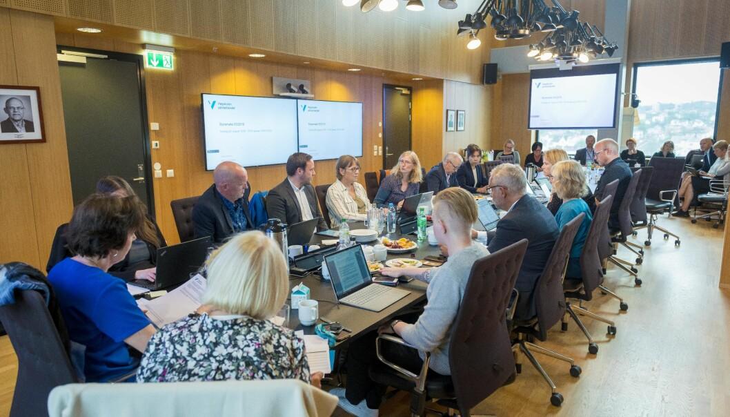 Høgskulen på Vestlandet har møte på Kronstad i B ergen fra kl 10 torsdag 6. februar. Her fra et møte høsten 2019. Foto: Tor Farstad