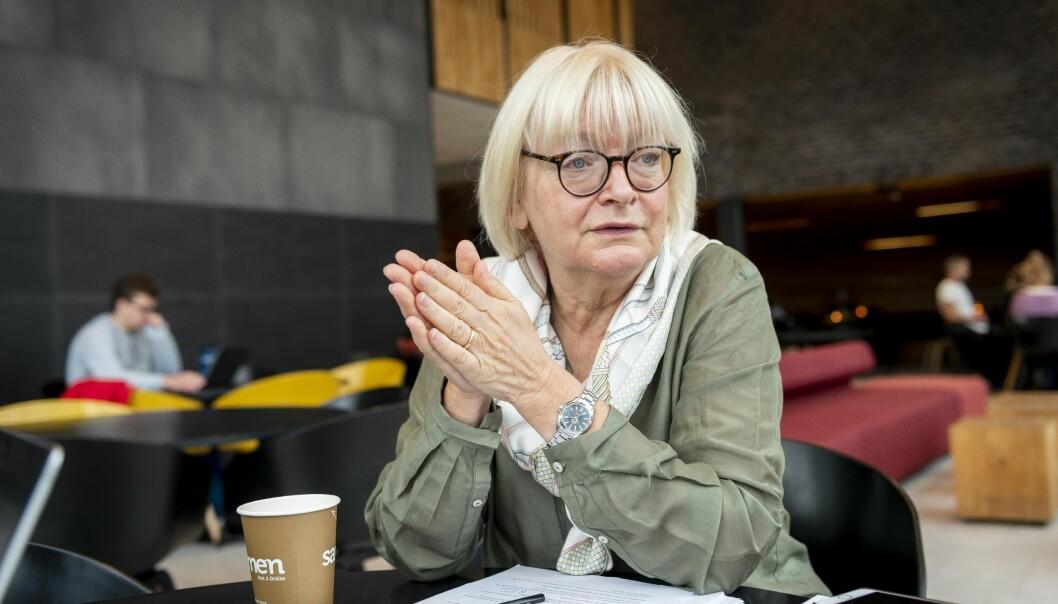 Rektor Berit Rokne er rektor ved Høgskulen på Vestlandet. Hun mener det er viktig å merke seg at Nifus tydeligste råd er å ikke gjøre store endringer i organisasjonen. Foto: Tor Farstad