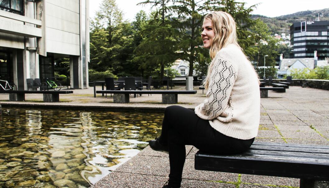 No planlegg Sara Sekkingstad å levere masteroppgåve i 2027. Ho må berre slå saman tre kommunar først. Foto: Dag Hellesund