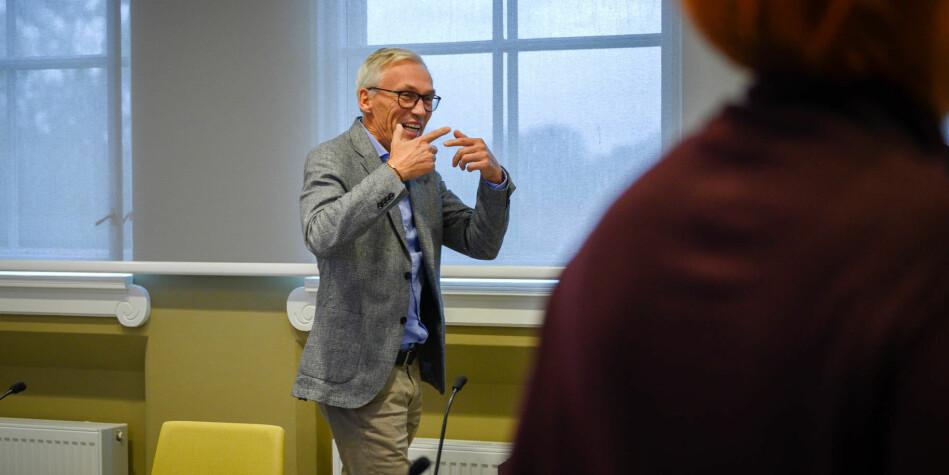 Systematisk arbeid med omdømme over tid er heilt avgjerande for å lukkast, meiner prorektor ved NTNU, Bjarne Foss. Foto: Skjalg Bøhmer Vold