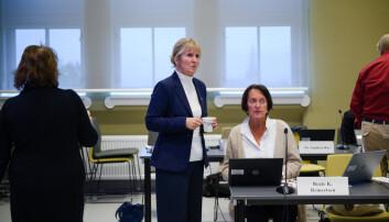 Organisasjonsdirektør Ida Munkeby ved NTNU orienterte NTNU-styret om konfliktene ved Institutt for historiske studier i septembermøtet. Foto: Skjalg Bøhmer Vold