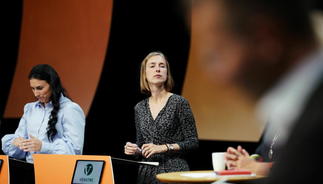 Leder av Norsk studentorganisasjon, Marte Øien, og forsknings- og høyere utdanningsminister Iselin Nybø på Arendalsuka 2019. Foto: Ketil Blom Haugstulen
