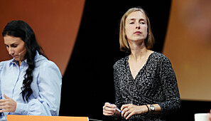 Forsking- og høgare utdanningsminister Iselin Nybø forsvarer eingangskuttet til Forskingsrådet. Foto: Ketil Blom Haugstulen