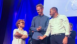 De tre superfinalistene. F.v: Didrik Hjertaker Grevskott, Daniel Vethe og Joseph Diab. Foto: Ynge Vogt / UiO