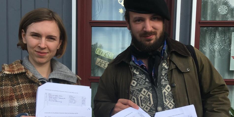 Mona S. Mehus og Eivind Rindal har sett i gang ein underskriftskampanje for å behalde Barbara Krawcowicz ved NTNU. Foto: Privat