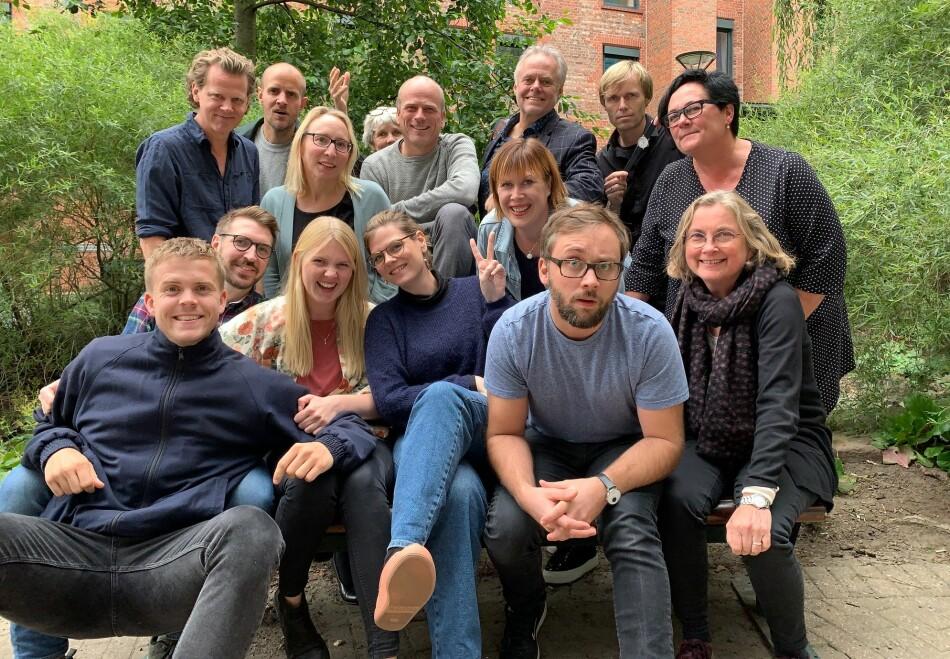 Redaksjonen i Khrono. Foto: Torkjell Trædal