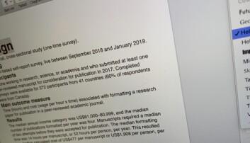 Sjekk hvor mye tid og penger forskere bruker på å formatere artikler for ulike tidsskrifter