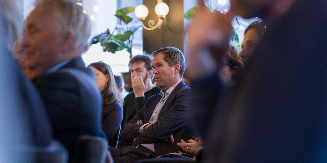 Forskningsrådets direktør John-Arne Røttingen er her tilhører til publiseringsdebatt i regi av Civita. Foto: Siri Øverland Eriksen