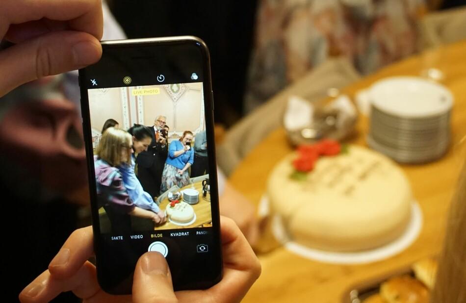 Selv om vi spiser kake, betyr ikke det at vi nå er ferdige med å arbeide for gjennomslag når det kommer til studentenes interesser, skriver leder av Norsk studentorganisasjon, Marte Øien. Foto: Karsten W. Nielsen