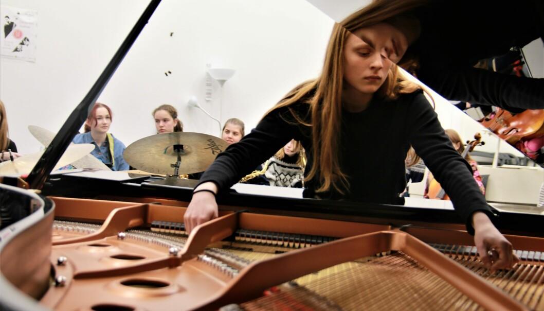 Griegakademiet samlet flere enn 20 jenter fra hele landet til jazz-kurs i Bergen. Foto: Jan Willie Olsen