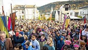 650 skuleelevar var inviterte til opninga. Foto: Tor Farstad