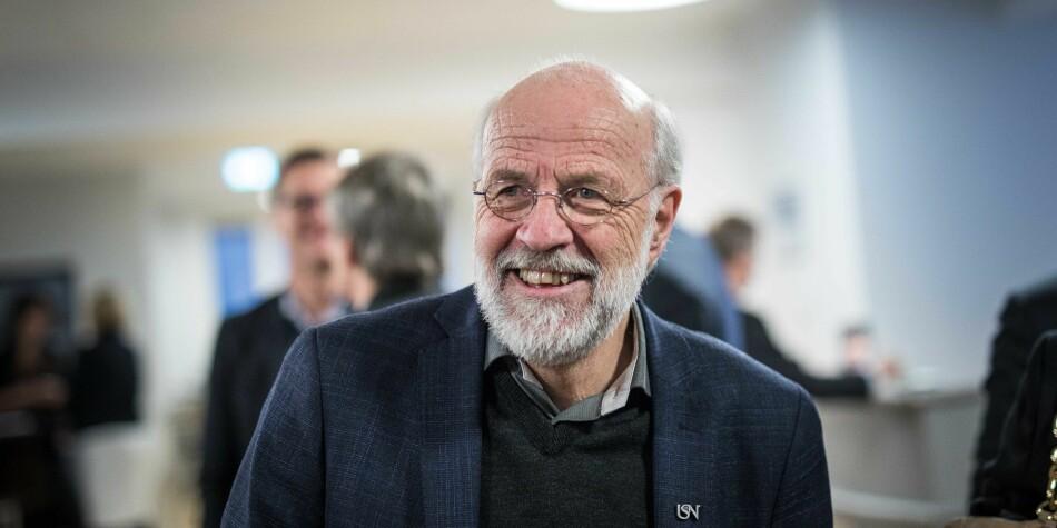 Petter Aasen (66) søker fire nye år som rektor ved Universitetet i Sørøst-Norge. Foto: Siri Øverland Eriksen
