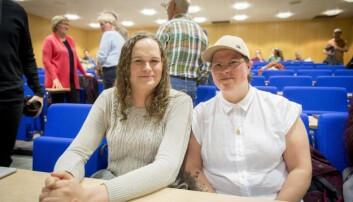 Elisabeth Meling og Märtha Elise Jensen meiner at arrangementet ikkje var fullt så kontroversielt som dei trudde. Foto: Tor Farstad
