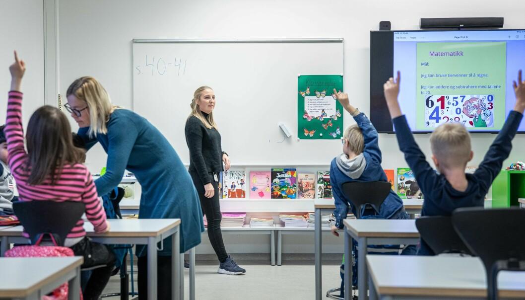 OsloMet-student Margrethe Hellerud, hadde sin praksis på Rykkinn skole i 2019.