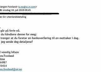 Svindelforsøk med universitets-direktørens epost avslørt på UiT