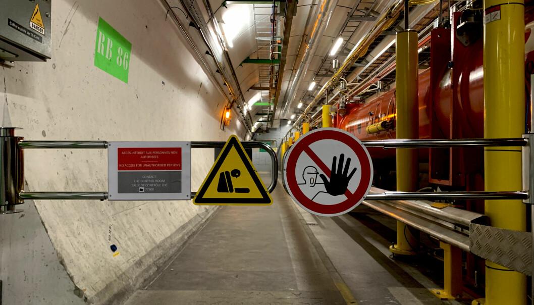Hundre meter under bakken i Cern ligger LHC. Foto: Espen Løkeland-Stai