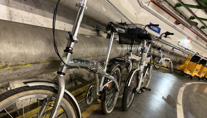 Det trengs sykler for å komme seg rundt i den 27 kilometer lange tunnelen. Foto: Espen Løkeland-Stai