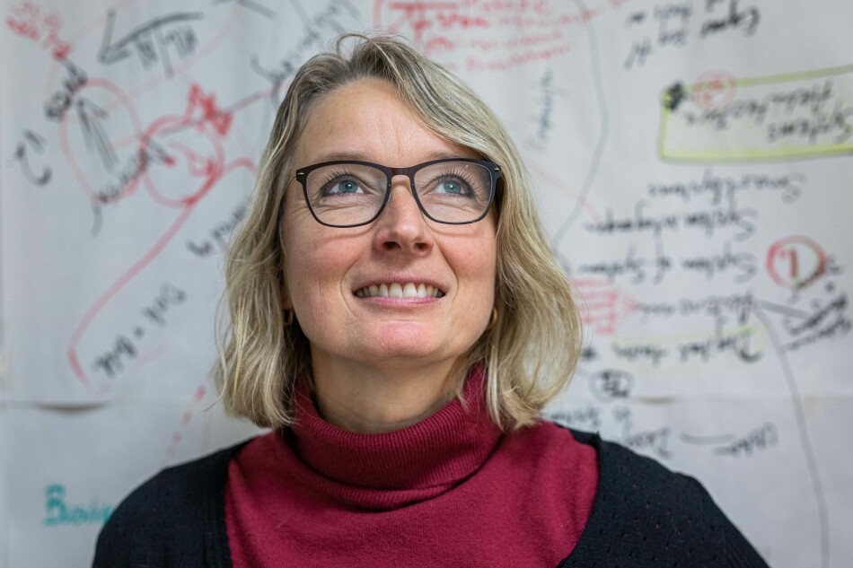 Kristin Falk er førsteamanuensis på Universitetet i Sørøst-Norge og har et gaveprofessorat fra Buskerud fylkeskommune ut året. Foto: Siri Øverland Eriksen