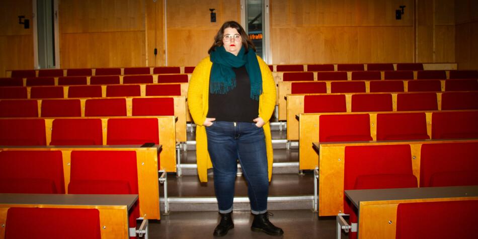 Helene Sæle tar et årsstudium i tegnspråk ved OsloMet. Foto: Mats Arnesen