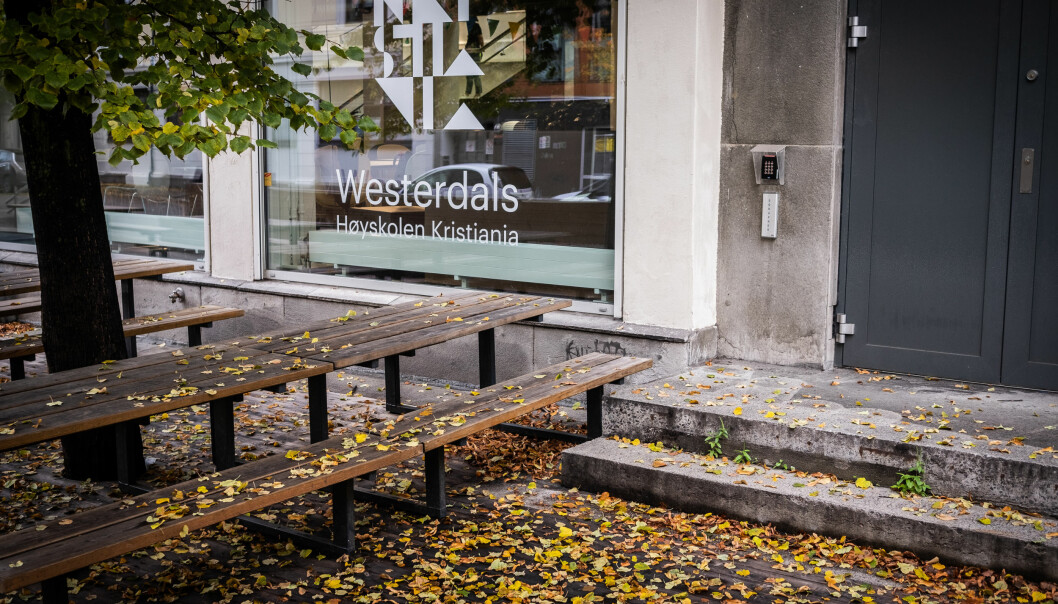 Høyskolen Kristiania kjøpte Westerdals i 2017. Fortsatt profileres Westerdals tungt under sitt gamle navn. Foto: Torkjell Trædal