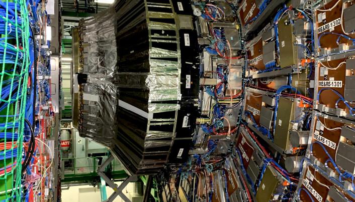 CMS, en av de fire detektorene ved Cern. Foto: Espen Løkeland-Stai
