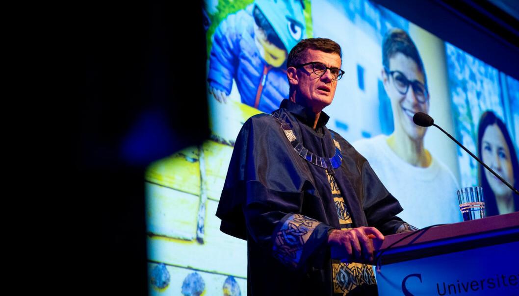 Klaus Mohn er nokså fersk rektor ved UiS. I dag er det klart for det andre styremøtet i hans rektorperiode. Foto: Mari Løvås, UiS
