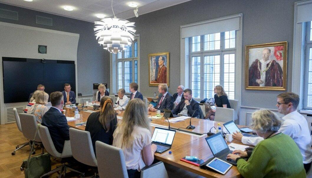 Styremøte Universitetet i Bergen. Foto: Tor Farstad