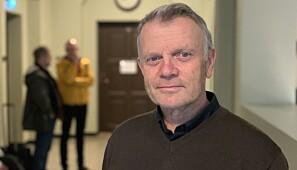 Hans Otto Frøland, med kollegaar Ingar Kaldal og Øyvind Thomassen i bakgrunnen. Foto. Ragnhild Vartdal