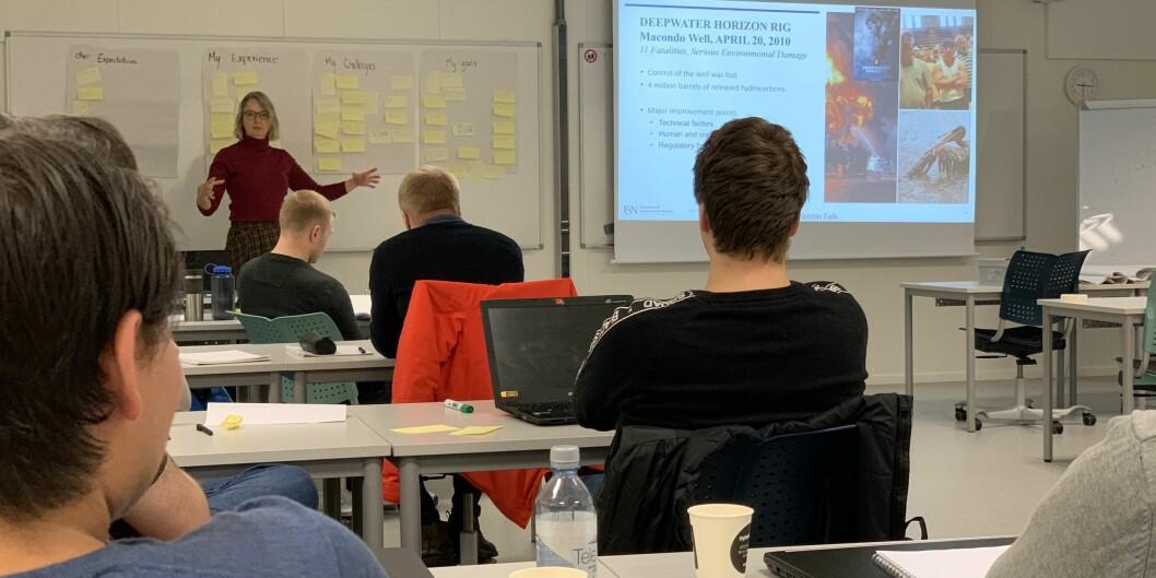 Undervisning på næringsretta master, studiested Kongsberg, Universitetet i Sørøst-Norge. Foto: Eva Tønnessen