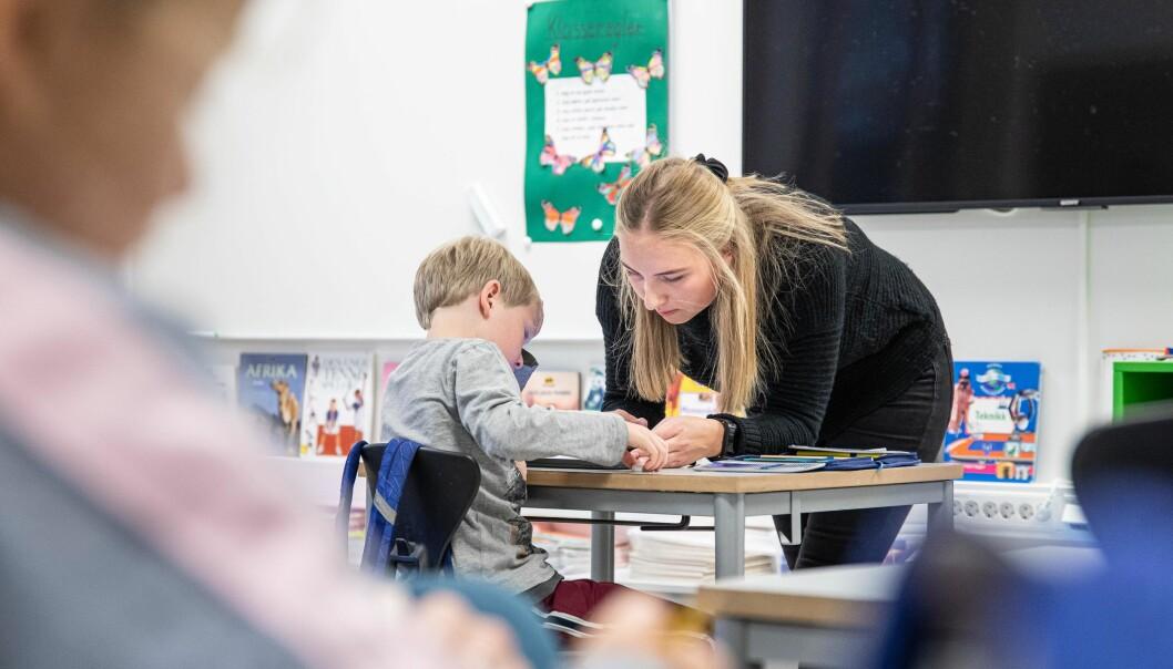 Grunskolelærerutdanningen ble femårig fra høsten 2017, men finansieringen av det femte året mangler fortsatt. Foto: Siri Ø Eriksen