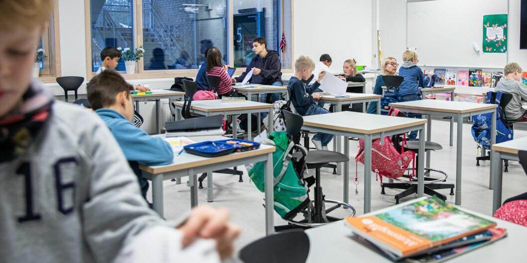 Utdanningen av grunnskolelærere har blitt femårig, men universiteter og høgskoler som har ansvar for utdanningen er bekymret for manglende bevilgninger fra myndighetene og konsekvensene for kvalite og faglig aktivitet og egen likviditet. Foto: Siri Øverland Eriksen