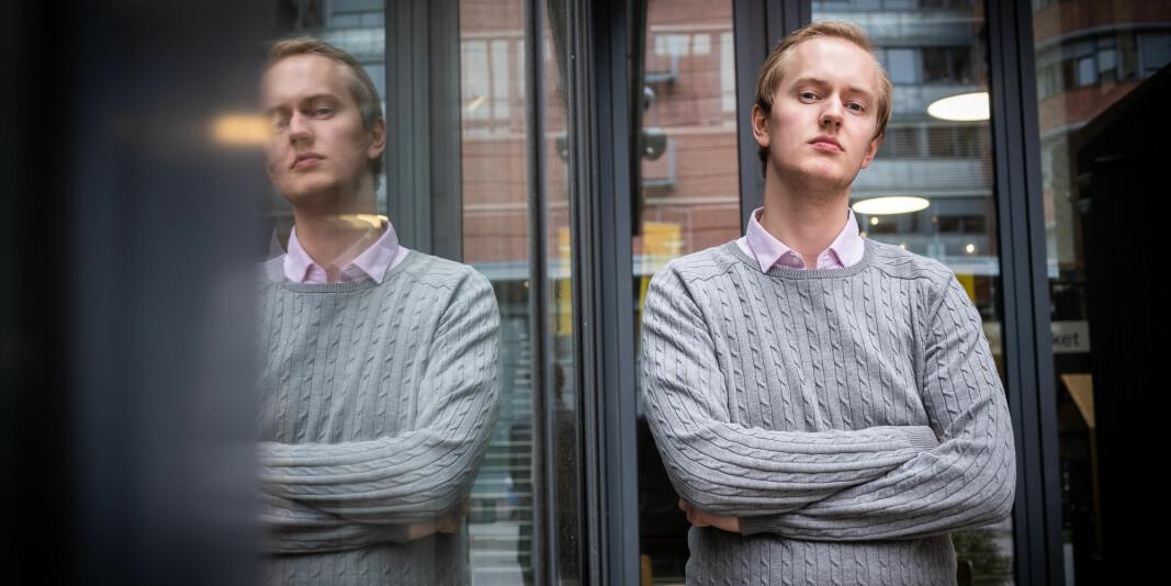 Lederen for Studentparlamentet ved OsloMet, Ola Gimse Estenstad, har en beskjed til professor Kristian Gundersen.