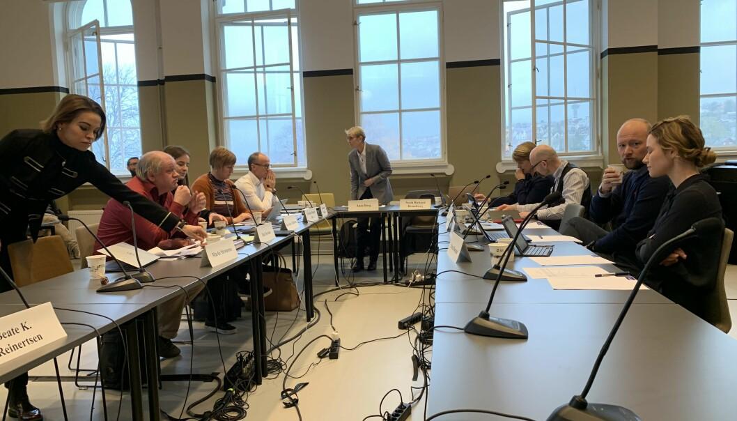 Eita samla NTNU-styre vedtok 31. oktober 2019 å dele opp det konfliktramma Institutt for historiske studier permanent. Foto: Ragnhild Vartdal