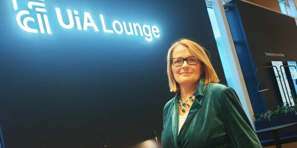 Rektor Sunniva Whittaker åpnet UiA Lounge 1. november. Foto: UiA