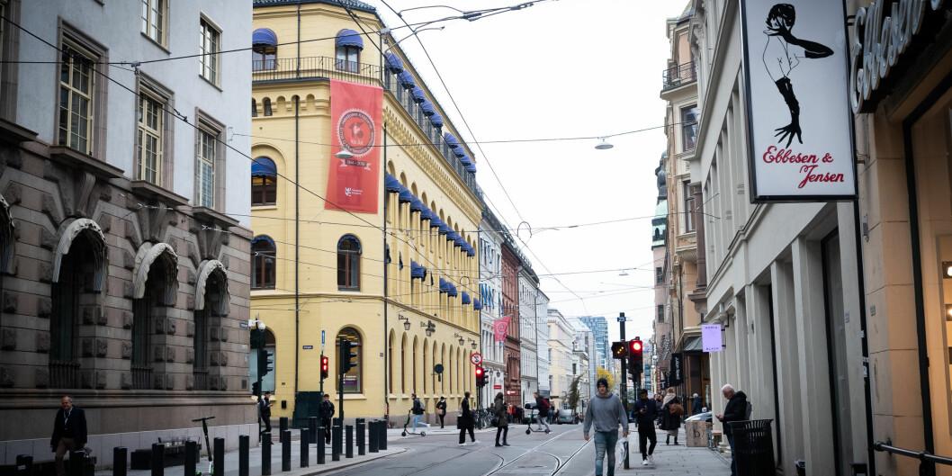 Høgskolen Kristianias bygg i Kirkegata i Oslo sentrum. Foto: Torkjell Trædal