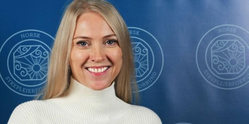 Førsteamanuensis Lill Sverresdatter Larsen ved UiT overtar etter Eli Gunhild By som forbundsleder i Norsk Sykepleierforbund. Foto: NSF