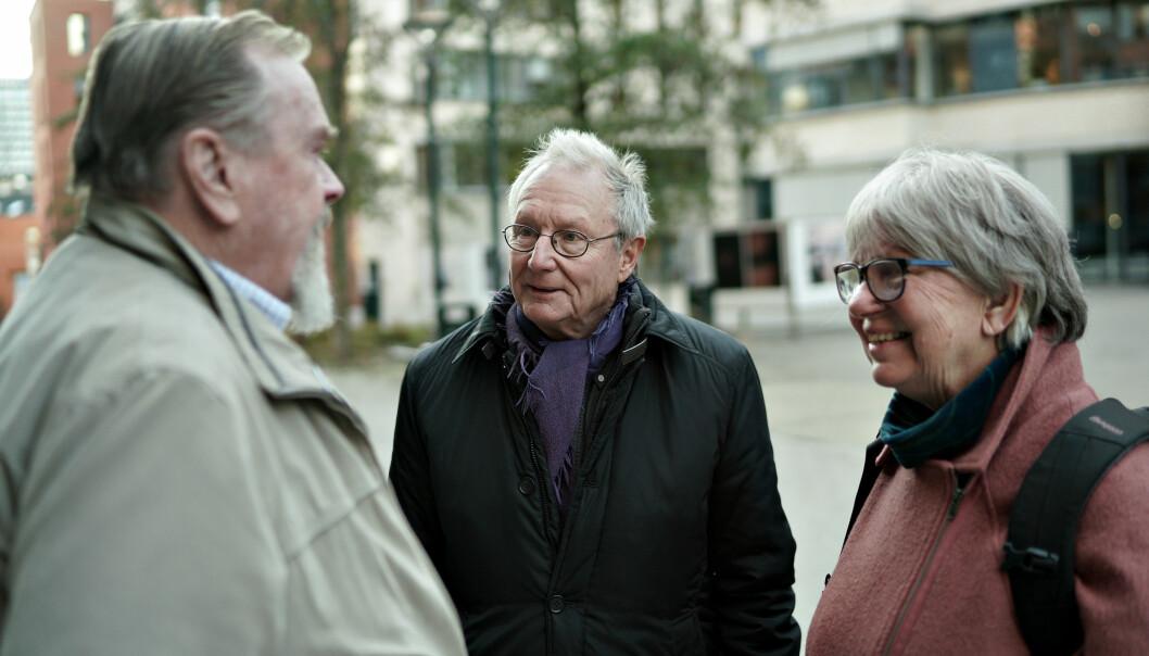 Åsulv Frøysnes, Steinar Stjernø og Kari Østvedt. Foto: Ketil Blom Haugstulen