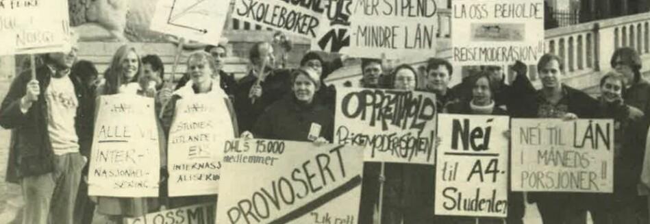 Studentene sluttet sterkt opp om protestene i november 1994. Faksimile fra Studentforum 1994.