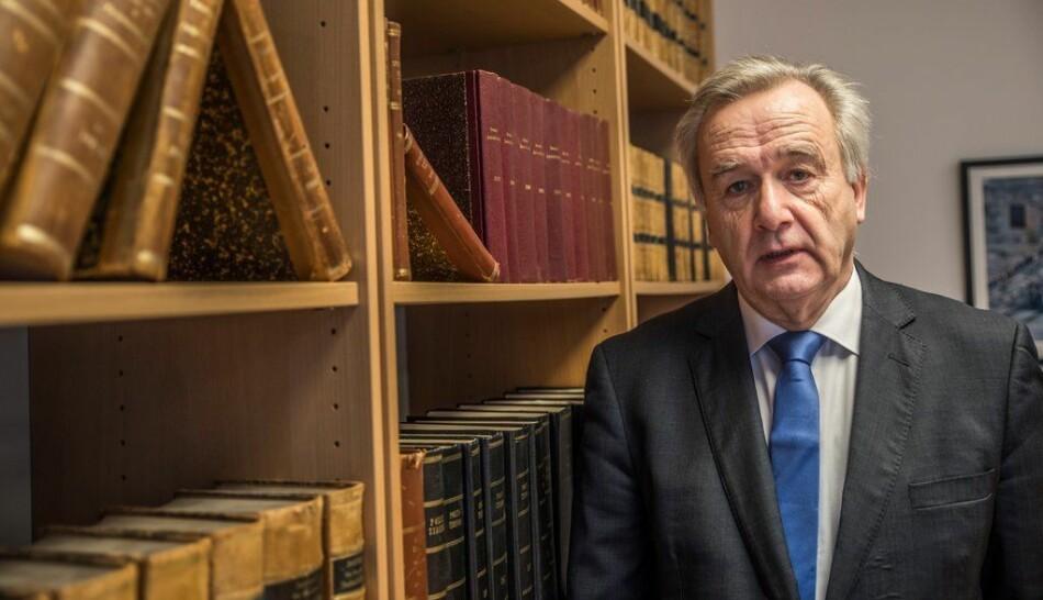 Riksadvokat Tor-Aksel Busch var kritisk til å slå sammen Politihøgskolen og Krus, kort tid før han gikk av med pensjon. Foto: Torkjell Trædal/Politiforum