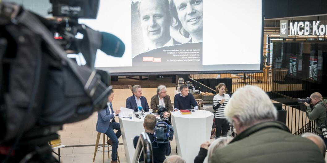 Fra pressekonferansen der den nye boka om politvoldsakene i Bergen ble presentert. Foto: Tor Farstad