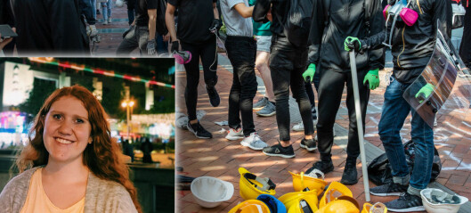 Flere norske studenter har forlatt Hongkong, men Malin (21) velger å bli. Se de dramatiske bildene fra universitetene.