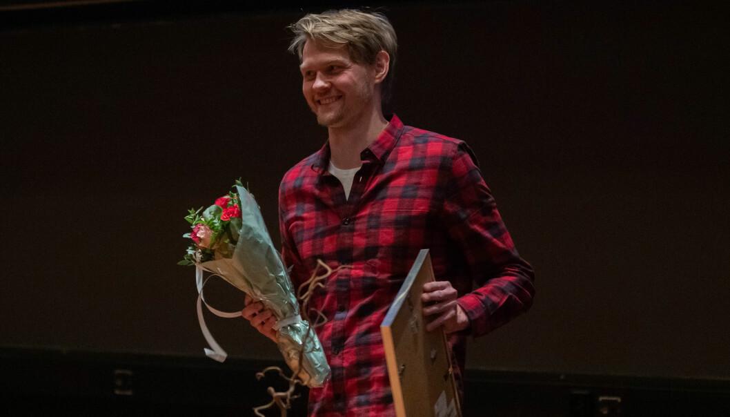 Alexander Tøsdal Tveit ved Institutt for arktisk og marin biologi, årets unge forsker på UiT. Foto: UiT